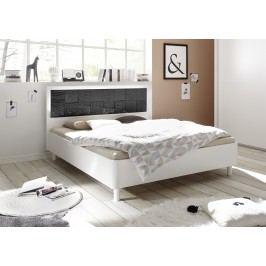 Bett 180 X 200 Cm Weiss Matt Mit Siebdruck In Anthrazit Hochglanz Classico Xaos Weiß Holz Modern