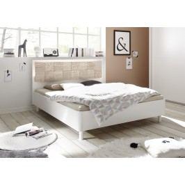 Bett 180 X 200 Cm Weiss Matt Mit Siebdruck In Sonoma Eiche Classico Xaos Weiß Holz Modern