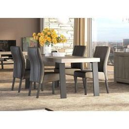 Esstisch 189 Cm Raucheiche ´´caracalla´´/ Metallfüße Classico Capri Holz Modern