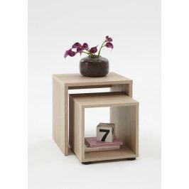 2er-Set Beistelltisch Eiche Fmd Duo Holz Modern