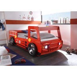 Feuerwehrbett 90 X 200 Cm Rot Glänzend Lackiert Polpower Spark Mdf Modern