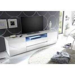 Tv Lowboard Weiss Hochglanz Lackiert Mca-Furniture Azneciv Weiß Holz Modern