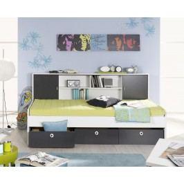 Bett 90 X 200 Cm Grau-Metallic/ Alpinweiss Rauch Packs Chica Holz Modern