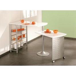 Küchenbar Weiss Lackiert/ Silbergrau Lackiert Inter Link Filamento Metall Modern