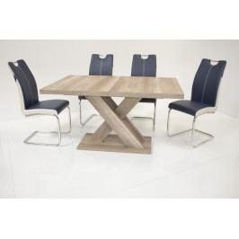 Tischgruppe Wildeiche/ Blau-Weiss Top Form Andre We/ Chantal Holz