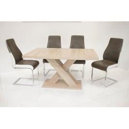 Tischgruppe Eiche Sonoma/ Sepia-Braun Top Form Andre So/ Celia Eiche Sonoma Sägerau Holz