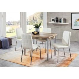 Tischgruppe Monument Oak/ Weiss Top Form Linda/ Hermes 5 Holz