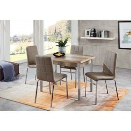 Tischgruppe Monument Oak/ Sandbraun Top Form Linda/ Hermes 5 Holz