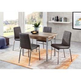 Tischgruppe Monument Oak/ Grau Top Form Linda/ Hermes 5 Holz