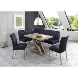 Eckbankgruppe Dunkelblau/ Wildeiche Top Form Retsehcnam Holzwerkstoffe Modern