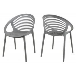 Stuhl Grau 4er-Set Canett Stnemele Kunststoff Modern