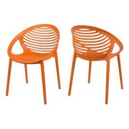 Stuhl Canett Stnemele Orange Kunststoff Modern