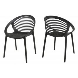 Stuhl Schwarz 4er-Set Canett Stnemele Kunststoff Modern