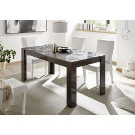 Esstisch 137 X 90 Cm Anthrazit Hochglanz Lack Mit Siebdruck Classico Z-Miro Holz Modern