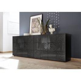 Sideboard Anthrazit Hochglanz Lack Mit Siebdruck Classico Z-Miro Holz Modern