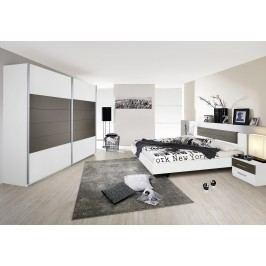 Schlafzimmer Mit Bett 180 X 200 Cm Alpinweiss/ Lavagrau Rauch Packs Barcelona Holz Modern
