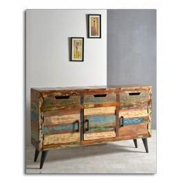 Sideboard Aus Reyceltem Altholz Massiv Mit Metallfüssen Sit-Möbel Miami Recycled Altholz Massiv Stylisch