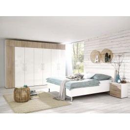 Schlafzimmer Komplett Alpinweiss/ Wildeiche Struktur Nachbildung Welle Kleiderschrankwunder/ Jugendwunder Alpinweiß Holz Modern