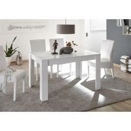 Esstisch 137 X 90 Cm Weiss Hochglanz Lack Mit Siebdruck Classico Z-Miro Weiß Holz Modern