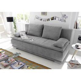 Schlafsofa / Dauerschläfer In Schlamm Stoff Black Red White Luigi Lux 3dl Modern