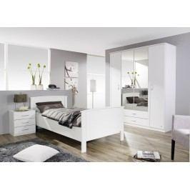 Schlafzimmer Mit Bett 100 X 200 Cm Alpinweiss Rauch Packs Torrent Weiß Holz Modern