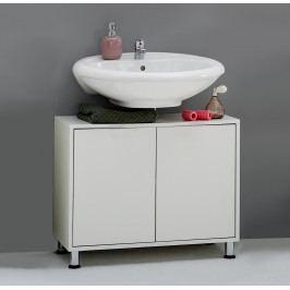 Waschbeckenunterschrank Weiss Fmd Zamora Weiß Holz Modern