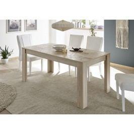Esstisch 137 X 90 Cm Eiche Sonoma Mit Siebdruck Classico Z-Miro Holz Modern