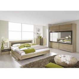 Schlafzimmer Mit Bett 180 X 200 Cm Eiche Sonoma/ Lavagrau Rauch Packs Venlo Holz Modern