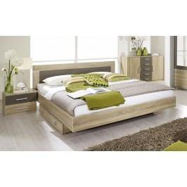 Bett 180 X 200 Cm Mit Nako-Set Eiche Sonoma/ Lavagrau Rauch Packs Venlo Holz Modern