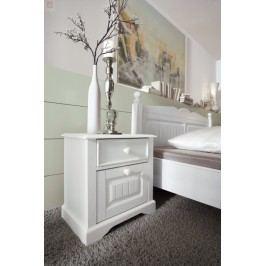 Nachtkommode Kiefer Teilmassiv Weiß Schlafkontor Cinderella Landhaus