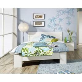 Bett 140 X 200 Cm Mit Nachttisch Alpinweiss Rauch Packs Chica Weiß Holz Modern