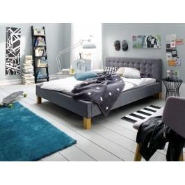 Polsterbett 140 X 200 Cm Webstoff Grau Meise.möbel Yes Polyester Modern