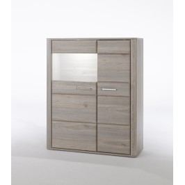 Kombi-Highboard Mca-Furniture Annevar Eiche Holz Modern