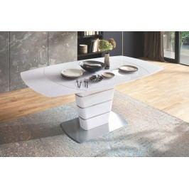 Esstisch Ausziehbar 140 X 100 Cm Weiss Hochglanz/ Edelstahl Mca-Furniture Mihca Weiß Glas Modern
