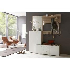 Garderobe Weiss Matt Tiefgezogen/ Sanremo Eiche Sand Mca-Furniture Irpac Modern