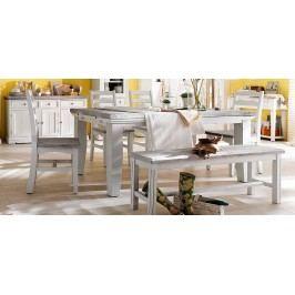 Esstisch 140 X 90 Cm Ausziehbar Kiefer Weiss / White Sanded Massiv Mca-Furniture Pokus Landhaus