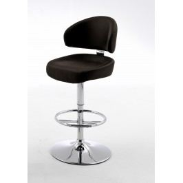 Barhocker Kunstleder Braun/ Chrom Mca-Furniture Gib Modern