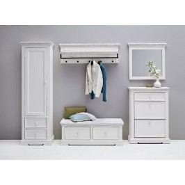 Garderoben-Set Recycle-Kiefer Weiss Mca-Furniture Opi Holz Landhaus