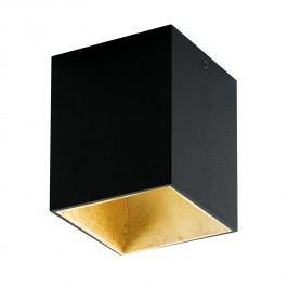 EEK A+, LED-Deckenleuchte Polasso I - Aluminium / Kunststoff - 1-flammig - Schwarz / Gold, Eglo