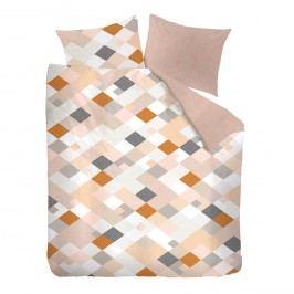 Bettwäsche Contemplation - Baumwollstoff - Apricot / Orange - 200 x 220 cm + 2 Kissen 80 x 80 cm, OILILY