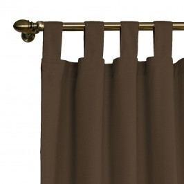 Schlaufenvorhang Cotton Panama - Braun / Kaffeebraun - 130 x 260 cm, Dekoria
