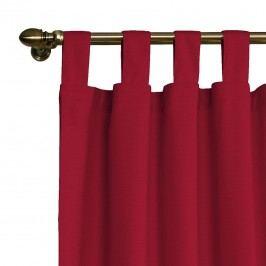 Schlaufenvorhang Cotton Panama - Rubinrot - 130 x 260 cm, Dekoria