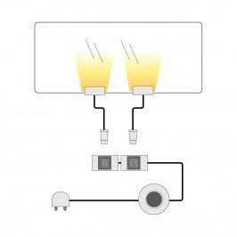 EEK A+, LED-Glasbodenbeleuchtung Lumbre (2er-Set) - Kalt Weiß, Trendteam