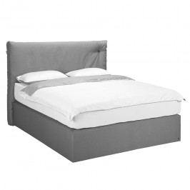 Boxspringbett Soft Cloud Webstoff - 140 x 200cm - H3 ab 80 kg - Stoff TUS9 graphite, Tom Tailor