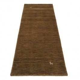 Läufer Gabbeh Loom - Schurwolle - Goldbraun - 80 x 200 cm, Parwis