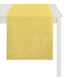 Tischläufer Outdoor Pattern - Webstoff - Maisgelb, Apelt