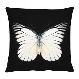 Kissenhülle Schmetterling - Schwarz / Creme, Apelt