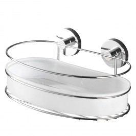 Wandablage Milazzo Vacuum-Loc - Stahl / Kunststoff - Chrom / Weiß, Wenko