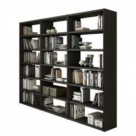 Bücherregal Empire - Schwarzbraun, loftscape
