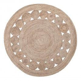 Juteteppich Chieko (handgefertigt) - Jute - Ø 150 cm, Top Square